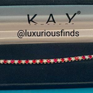 Ruby & white topaz bracelet // OBO